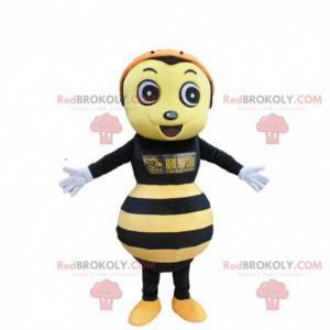 Fato de vespa amarela e preta, fantasia de abelha -