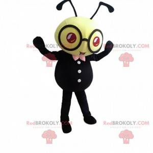 Gelbes und schwarzes Bienenkostüm mit Brille - Redbrokoly.com