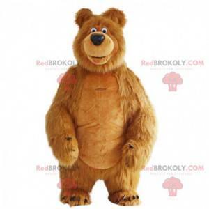 Nafukovací maskot medvěda, slavného medvěda v Máši a medvědovi