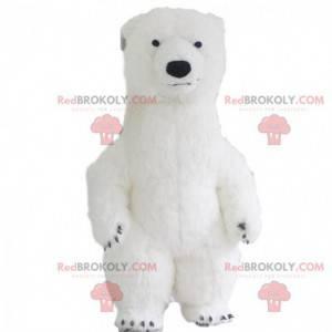 Aufblasbares Eisbären-Maskottchen, Eis-Teddybär-Kostüm -