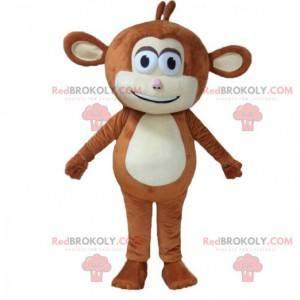 Fantasia de macaco marrom com orelhas grandes - Redbrokoly.com