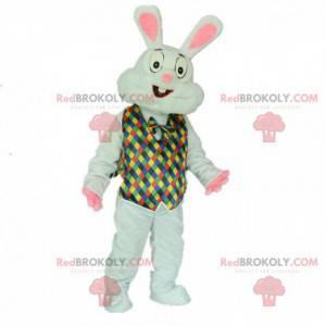 Costume da coniglio con un vestito festoso e colorato -
