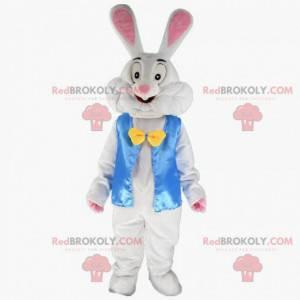 Wit konijnenkostuum met een blauw jasje - Redbrokoly.com