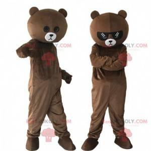 2 brown teddy bear costumes, teddy bear costumes -