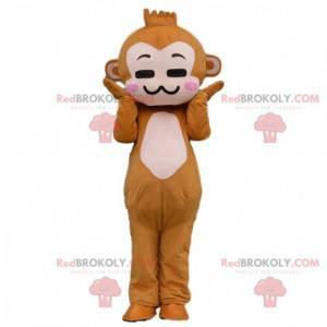Disfraz de mono marrón de dibujos animados - Redbrokoly.com