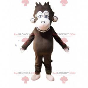 Brązowy rozczochrany kostium małpy, kostium małpy -