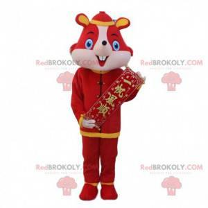 Traje de rato vermelho, traje asiático - Redbrokoly.com