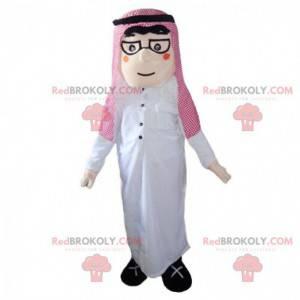 Mascotte uomo orientale, costume maghrebino, musulmano -