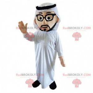 Kostým orientálního muže, maskot Maghrebu, muslim -