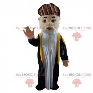 Prins kostume, traditionel gammel mand i muslimsk påklædning -