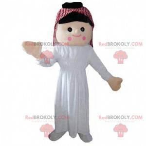 Mascote mulher oriental, traje do Oriente - Redbrokoly.com
