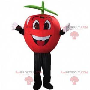 Reusachtig rood appelkostuum, mascotte verboden fruit -