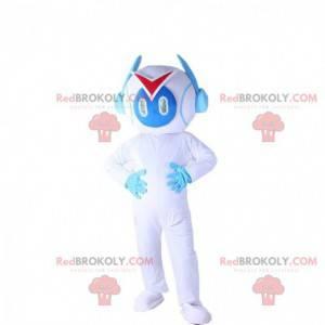 Hvit og blå robotdrakt, robotdrakt - Redbrokoly.com