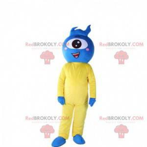 Cyclops kostuum, blauw buitenaards kostuum - Redbrokoly.com