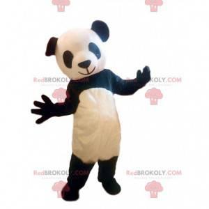 Czarno-biały kostium pandy, azjatycka maskotka niedźwiedź -