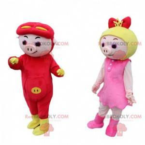 2 GG Bond cartoon costumes, pig costumes - Redbrokoly.com