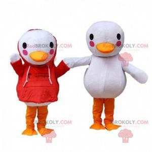 Disfraces de pato blanco gigante, 2 disfraces de pato -