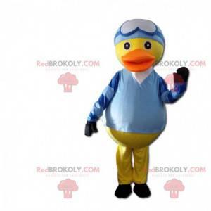 Fato de pato vestido de jóquei, traje de montaria -