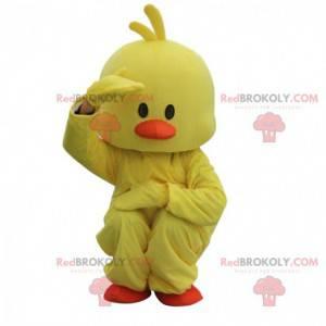 Disfraz de pato amarillo y naranja, disfraz de pollito gordo -