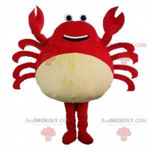 Fato de caranguejo gigante vermelho, fantasia de crustáceo -