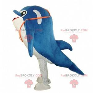 Costume delfino blu e bianco, costume delfino - Redbrokoly.com