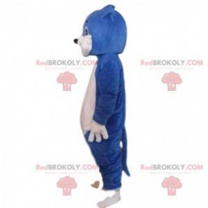Blue and white cat costume, plush cat costume - Redbrokoly.com