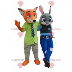 2 Maskottchen von Nick Wilde und Judy Hall aus Zootopia -