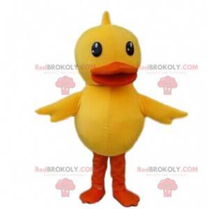 Žlutý a oranžový kostým kachny, obří kostým ptáků -