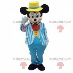 Fato de Mickey Mouse vestido com traje azul - Redbrokoly.com
