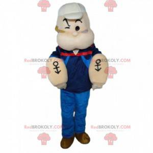 Mascot of Popeye, den berømte sjømannen som spiser spinat -