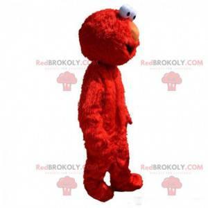 Mascote Elmo, o famoso monstro vermelho do show Muppet -