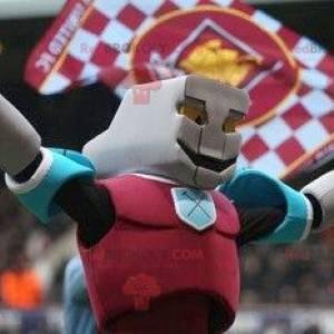 Mascotte robot colorato supereroe - Redbrokoly.com