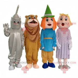 "4 mascotas de la caricatura ""El mago de Oz"", 4 disfraces -"