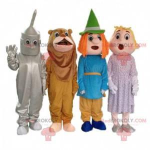 """4 mascottes uit de tekenfilm """"The Wizard of Oz"""", 4 vermommingen"""