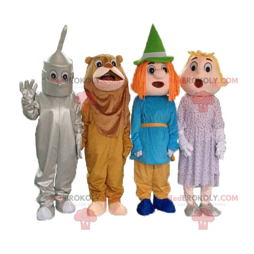 """4 mascots from the cartoon """"The Wizard of Oz"""", 4 disguises -"""
