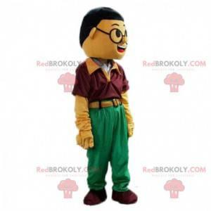Asiatisk mand maskot, asiatisk kostume - Redbrokoly.com