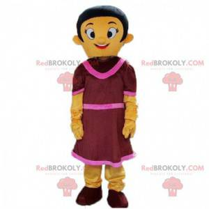 Barevný kostým ženy, kostým ženy v šatech - Redbrokoly.com
