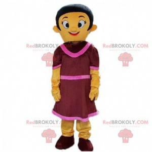Traje de mujer colorido, traje de mujer en vestido -
