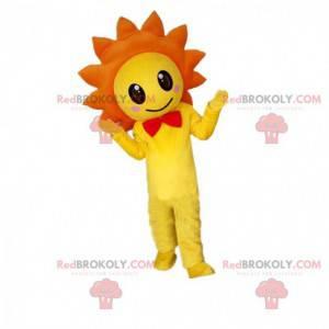 Geel en oranje bloem mascotte, bloemkostuum - Redbrokoly.com