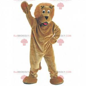 Brun løve maskot - Redbrokoly.com