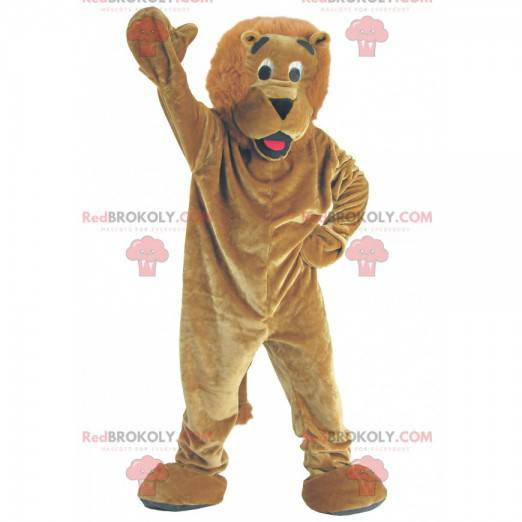 Hnědý lev maskot - Redbrokoly.com