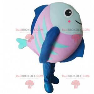 Costume da pesce rosa, blu e verde, costume da mare -