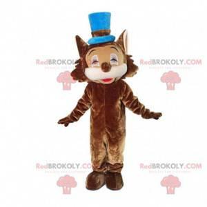 Fato marrom de leão com cartola - Redbrokoly.com