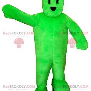 Electric plug green snowman mascot - Redbrokoly.com