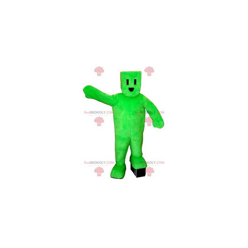 Elektrická zástrčka zelený sněhulák maskot - Redbrokoly.com