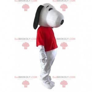 Snoopy, a famosa fantasia de cão de desenho animado -