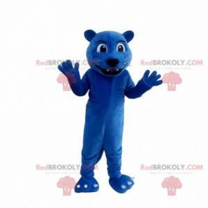 Fato de pantera gigante azul, fantasia de felino azul -