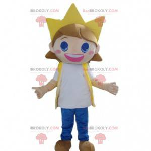 Child mascot, very smiling girl with a crown - Redbrokoly.com