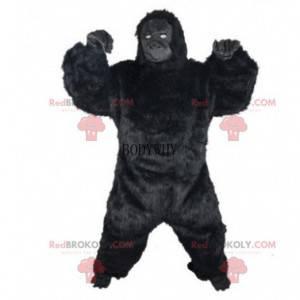 Riesiges schwarzes Gorillakostüm, King Kong Kostüm -