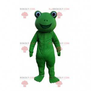 Costume da rana verde e sorridente, costume da rospo -